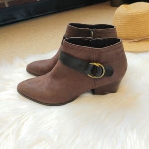 Franco Sarto Gabie Brown Ankle Booties Size 10